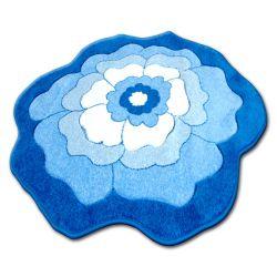Carpet children CIRCLE HAPPY C273 FLOWER blue