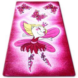 Tapete infantil HAPPY C123 cor de rosa Fada