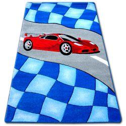 Koberec pro děti HAPPY C227 modrý Auto