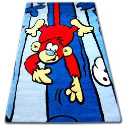 Килим дитячий HAPPY C176 синій мавпа