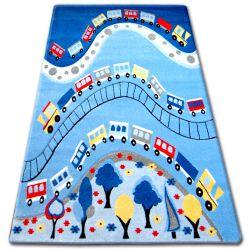 Dywan dziecięcy HAPPY C168 niebieski Pociąg