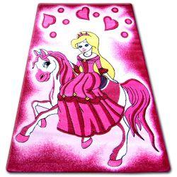 Alfombra infantil HAPPY C187 Princesa rosa