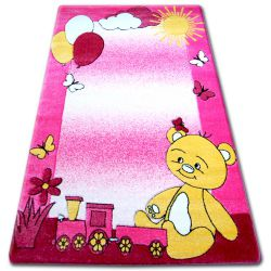 Tappeto kids HAPPY C210 rosa Orsetto
