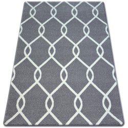 Tapis SKETCH - F934 gris et blanc trellis