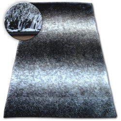 Килим Shaggy SPACE 3D B315 чорний/сірий