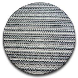 Zigzag szőnyeg kör szürke