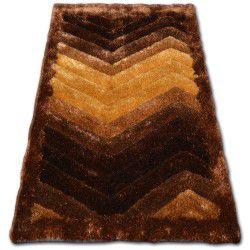 Килим SHAGGY SOFT - 3D TYC314 коричневий