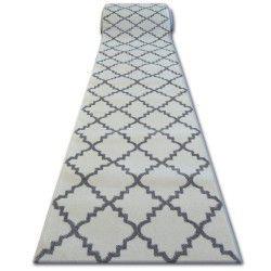 Passatoia SKETCH F343 bianco/griggio marocco trifoglio trellis